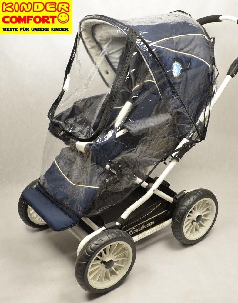 Универсальный силиконовый дождевик для прогулочной коляски (с окошком на молнии), Kinder Comfort