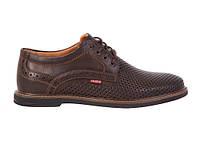 Кожаные мужские летние туфли Bumer к2