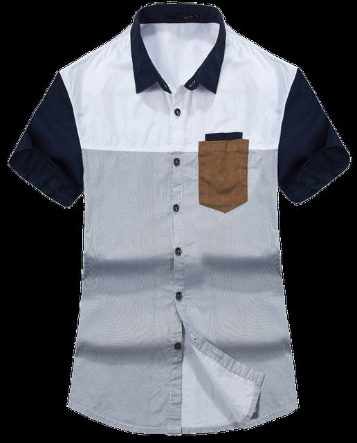 Мужские рубашки с коротким рукавом опт 7 км