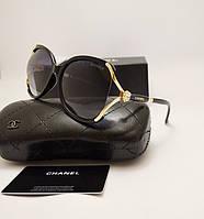 Женские солнцезащитные очки Chanel 7176 Черный цвет