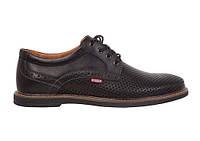 Кожаные мужские  летние туфли Bumer к1