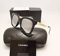 Женские солнцезащитные очки Chanel 1142 Черное зеркало