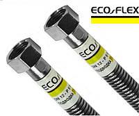 """Шланг сильфонный для газа Eco Flex из нержавеющей гофротрубы 1/2"""" ВВ 300см"""