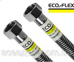 """Шланг сильфонный для газа Eco Flex из нержавеющей гофротрубы 1/2"""" ВВ 30см"""