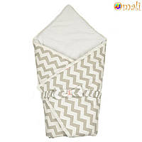 Конверт-одеяло на выписку «Вернисаж» Omali (серый зигзаг)