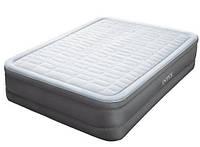 Надувная велюровая кровать Intex (64486) 203-152-46 см,с электро-насосом
