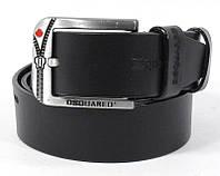 Ремень кожаный мужской под джинсы черный Dsquared 8008-406, фото 1