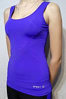 Майка женская спортивная бифлекс синяя