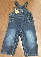Джинсовый комбинезон унисекс, джинсы р. 78-86, Cool Club Baby