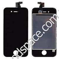 Дисплей iPhone 4 с тачскрином в сборе, цвет черный, TEST OK, копия высокого качества