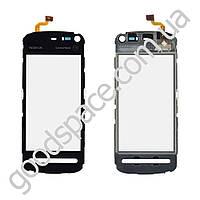 Тачскрин (сенсор) Nokia 5800, цвет черный