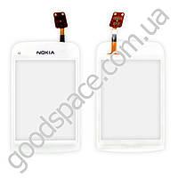 Тачскрин Nokia C2-06, C2-02, C2-03, C2-07, C2-08, цвет белый, оригинал