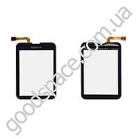 Тачскрин (сенсор) Nokia C3-01, цвет черный, оригинал