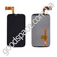 Дисплей HTC Desire V T328w с тачскрином в сборе, цвет черный