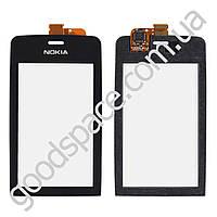 Тачскрин (сенсор) Nokia 308, 309, 310 Asha, цвет черный