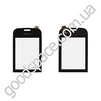 Тачскрин Nokia 202, 203 Asha, цвет черный, копия высокого качества