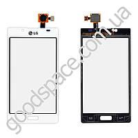 Тачскрин (сенсор) LG P705, P700, P750 Optimus L7,, цвет белый, высокое качество