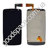 Дисплей HTC Desire 500, 506e Z4 с тачскрином в сборе, цвет черный, оригинал