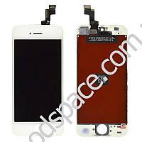 Дисплей iPhone 5S, iPhone SE с тачскрином в сборе, цвет белый, копия высокого качества, TEST OK
