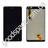 Дисплей HTC Desire 400 с тачскрином в сборе, цвет черный, на 2 sim карты, оригинал