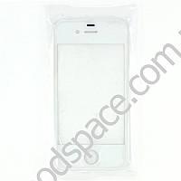 Стекло для iPhone 4, цвет белый