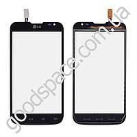 Тачскрин (сенсор) LG D325 Optimus L70, цвет черный, высокое качество