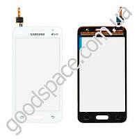 Тачскрин (сенсор) Samsung Galaxy Core 2 G355H, цвет белый, на 2 sim карты, ревизия 3, маленькая микр