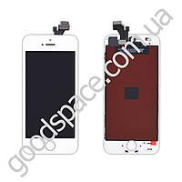 Дисплей iPhone 5 с тачскрином в сборе, цвет белый, test Ok