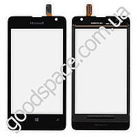 Тачскрин (сенсор) Nokia 430 Lumia Microsoft, цвет черный, высокое качество