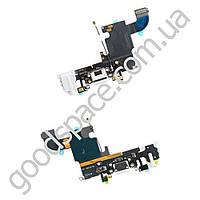 Шлейф с разъемами зарядки и наушников для iPhone 6S (4.7), цвет белый