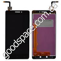 Дисплей Lenovo Vibe P1m с тачскрином в сборе, цвет черный, большая микросхема