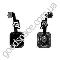 Шлейф с наружной кнопкой home iPhone 6S (4.7), цвет черный