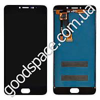 Дисплей Meizu M3 Note с тачскрином в сборе, цвет черный (версия M), большая микросхема