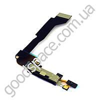 Шлейф для iPhone 4 с разъемом зарядки, цвет белый, копия высокого качества