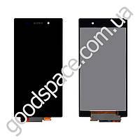 Дисплей Sony Xperia Z1 (C6902, C6903, C6906, C6943, L39h) с тачскрином в сборе, цвет черный, большая