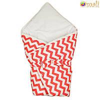 Конверт-одеяло на выписку «Вернисаж» Omali (красный зигзаг)