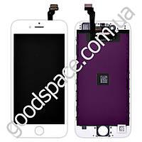 Дисплейный модуль iPhone 6 (4.7), цвет белый, копия высокого качества