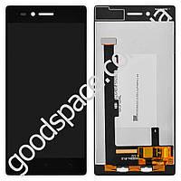 Дисплей Lenovo Z90-7 Vibe Shot с тачскрином в сборе, цвет черный, большая микросхема