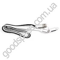 USB кабель iPhone 5 + кабель micro USB (2 в 1), цветной плоский