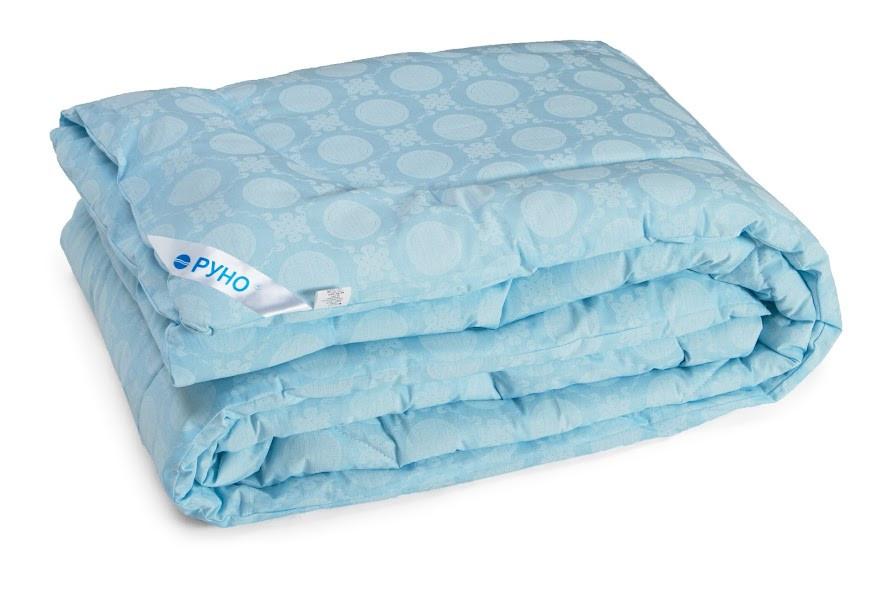Одеяло Руно шерстяное  двуспальное евро бязь 200x220 см Комфорт плюс 300г/м.кв. (322.02ШК+У)