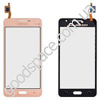 Тачскрин Samsung Galaxy Grand Prime VE (G530H, G530E, G531H, G530F DS), цвет золотой, маленькая микр