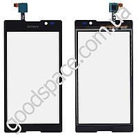 Тачскрин Sony Xperia C C2305 (S39h), цвет черный, копия высокого качества, большая микросхема