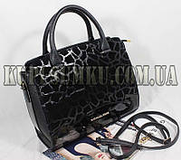 Стильная замшевая каркасная сумка с длиннім ремнем