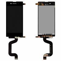 Дисплей (экран) для Sony D2202 Xperia E3, D2203 Xperia E3, D2206 + с сенсором (тачскрином) черный Оригинал
