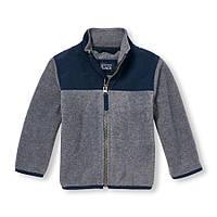 Флисовый пуловер-жакет на мальчика 5 лет Серый The Children's Place (США)
