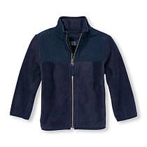 Флисовый пуловер-жакет на мальчика 5 лет Темно-синий The Children's Place (США)