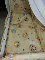 """Комплект постельного белья в детскую кроватку 9 в1 ТМ""""GOLD"""""""