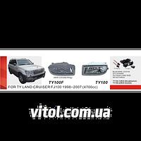 Противотуманные фары Vitol TY-100F-W Toyota LC  FJ100 1998-2007 эл.проводка