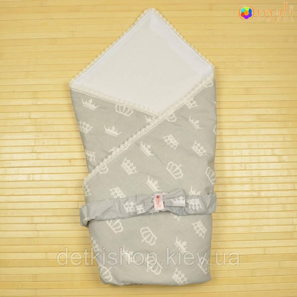 Конверт-одеяло на выписку «Вернисаж» Omali (Royal серый)