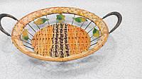 Фруктовница-конфетница плетеная